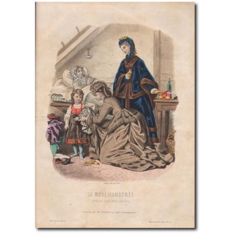 Gravure de La Mode Illustrée 1870 51