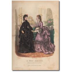 Gravure de La Mode Illustrée 1872 01
