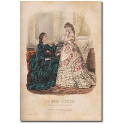 Gravure de La Mode Illustrée 1872 07