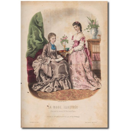 Gravure de La Mode Illustrée 1872 11