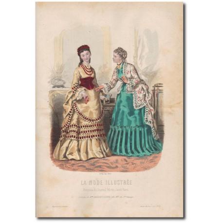 Gravure de La Mode Illustrée 1872 16