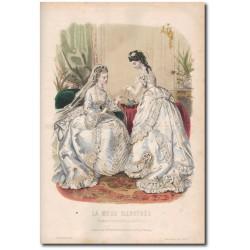 Gravure de La Mode Illustrée 1872 20