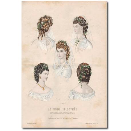Gravure de La Mode Illustrée 1872 24
