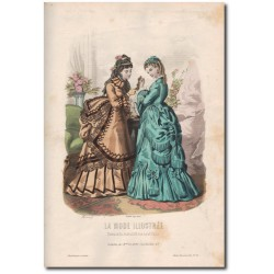 Fashion plate La Mode Illustrée 1872 33
