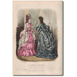 Fashion plate La Mode Illustrée 1872 35