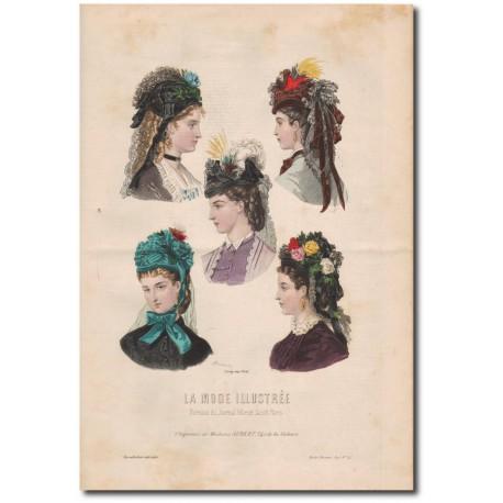 Gravure de La Mode Illustrée 1872 42