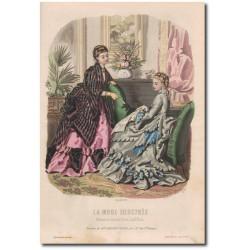 Fashion plate La Mode Illustrée 1872 46