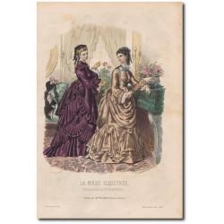 Fashion plate La Mode Illustrée 1872 48