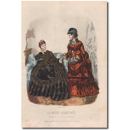Gravure de La Mode Illustrée 1872 50