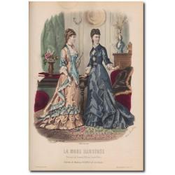 Gravure de La Mode Illustrée 1878 07