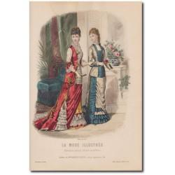 Gravure de La Mode Illustrée 1878 27