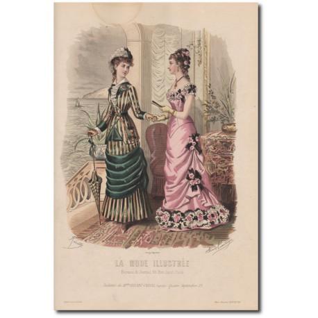 Gravure de La Mode Illustrée 1878 36