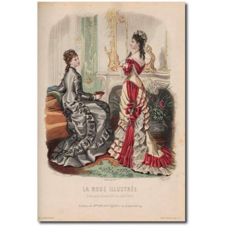 Gravure de La Mode Illustrée 1876 04