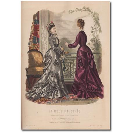 Fashion plate La Mode Illustrée 1876 21