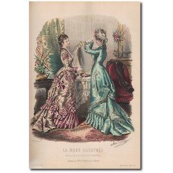 Gravure de La Mode Illustrée 1876 26