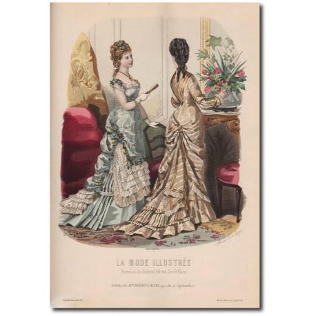 Gravure de La Mode Illustrée 1876 29