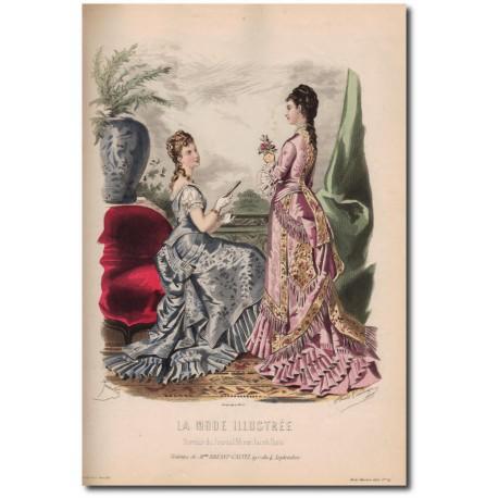 Gravure de La Mode Illustrée 1876 34