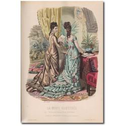 Gravure de La Mode Illustrée 1876 36