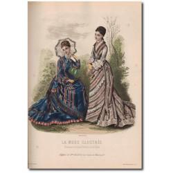 Gravure de La Mode Illustrée 1876 37