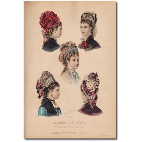 Gravure de La Mode Illustrée 1876 41