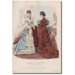 Gravure de La Mode Illustrée 1876 51