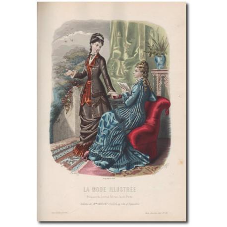Gravure de La Mode Illustrée 1877 20