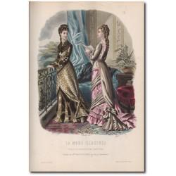 Gravure de La Mode Illustrée 1877 24