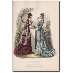 Gravure de La Mode Illustrée 1877 25