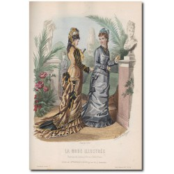 Gravure de La Mode Illustrée 1877 26