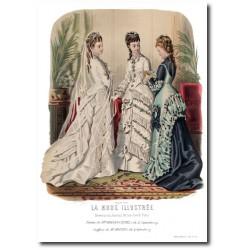 Gravure La Mode Illustrée 1876 20