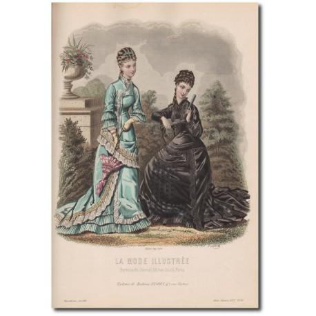 Gravure de La Mode Illustrée 1877 33