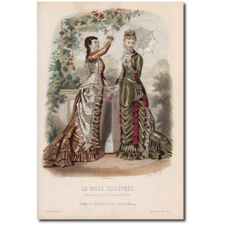 Gravure de La Mode Illustrée 1877 35