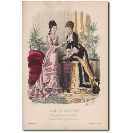 Gravure de La Mode Illustrée 1877 44