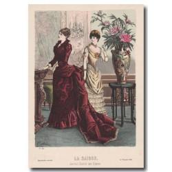 Fashion plate La Saison 1883 560