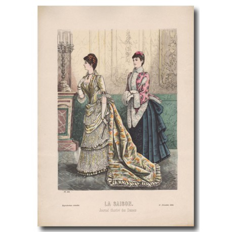 Fashion plate La Saison 1884 595
