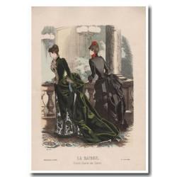 Fashion plate La Saison 1885 607