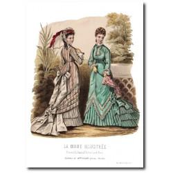 Gravure La Mode Illustrée 1876 33