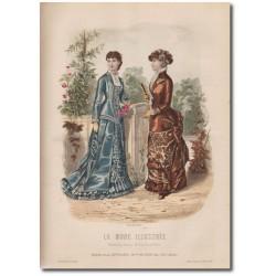Gravure de La Mode Illustrée 1880 36