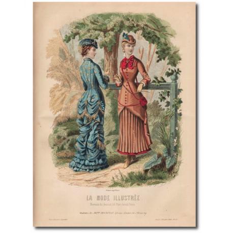 Gravure de La Mode Illustrée 1880 37