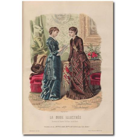 Gravure de La Mode Illustrée 1880 46