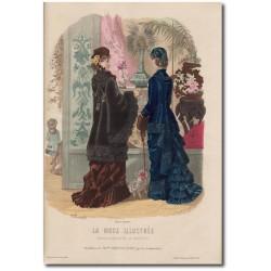 Fashion plate La Mode Illustrée 1880 51