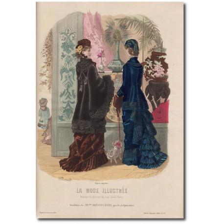Gravure de La Mode Illustrée 1880 51