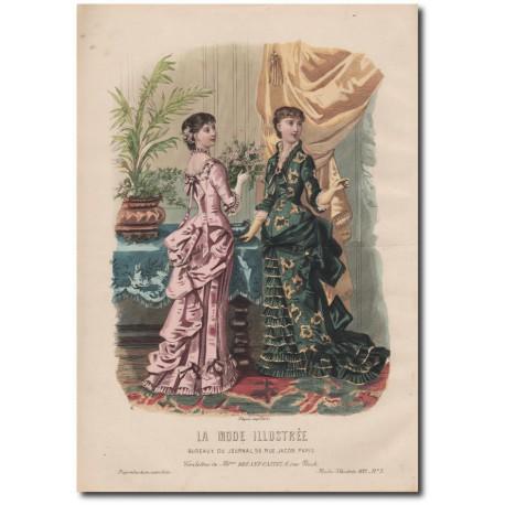 Gravure de La Mode Illustrée 1882 03