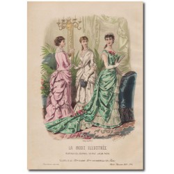Gravure de La Mode Illustrée 1882 04