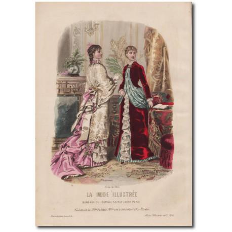 Gravure de La Mode Illustrée 1882 06