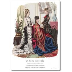 Gravure La Mode Illustrée 1876 52