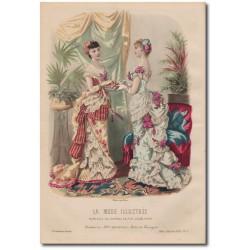 Gravure de La Mode Illustrée 1882 07