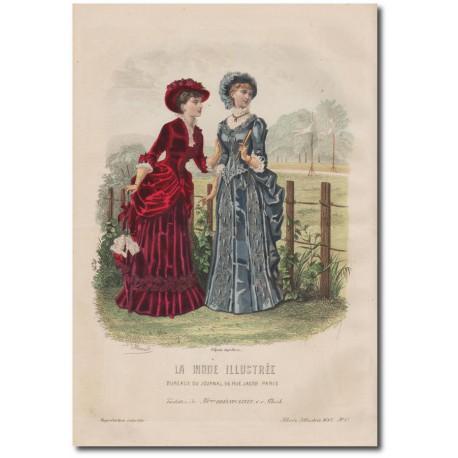Gravure de La Mode Illustrée 1882 17