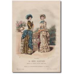 Gravure de La Mode Illustrée 1882 18