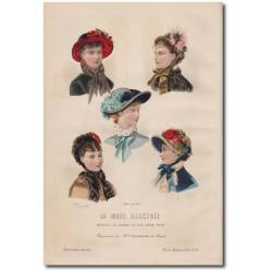 Gravure de La Mode Illustrée 1882 19